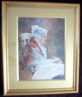 David Woodlock Signed Exhibition Watercolour Painting c.1895