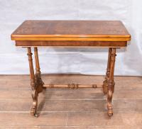Victorian Walnut Card Table Games Table