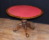 Victorian Card Games Table - Antique Walnut 1880