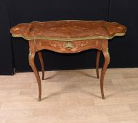 French Empire Extending Side Table Marquetry Inlay Drop Leaf c.1880