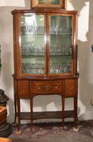 Sheraton Style Bookcase Glass Display Cabinet Inlay c.1920