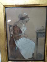 S.S Kerr. Antique Original Chalk & Pencil Portrait c.1821 (5 of 11)