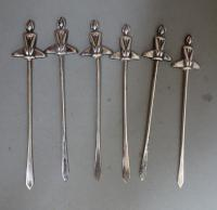 Art Deco Silver Cocktail Sticks. William Neal Ltd. Birmingham 1932 (7 of 10)