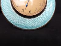 Art Deco Guilloche Enamel & Silver Gilt Clock (5 of 11)