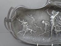 WMF Art Nouveau Pewter Tray. Diana the Huntress (2 of 11)