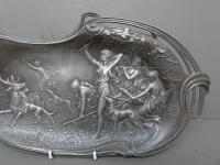 WMF Art Nouveau Pewter Tray. Diana the Huntress (3 of 11)