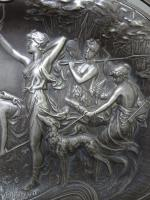 WMF Art Nouveau Pewter Tray. Diana the Huntress (4 of 11)