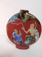 Sumida Gawa Moon Flask. Early 20th Century. Japanese (2 of 12)