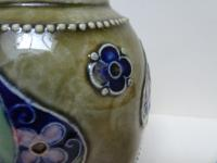 Royal Doulton Stoneware Vase c.1880. M Welsby (6 of 11)