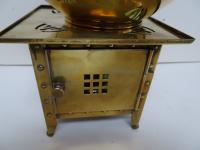 Jan Eisenloffel Brass Kettle on Stand with Spirit Burner. Secessionist. Early 20th Century (4 of 16)