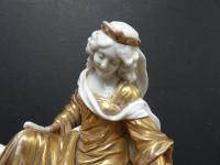 Late 19th Century Porcelain Figural Group of a Maiden on a Horse. Probably Italian (7 of 13)