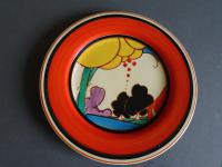 Clarice Cliff Art Deco Summerhouse Pattern Plate Hand Painted (5 of 7)