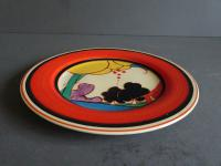 Clarice Cliff Art Deco Summerhouse Pattern Plate Hand Painted (7 of 7)
