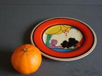 Clarice Cliff Art Deco Summerhouse Pattern Plate Hand Painted (4 of 7)