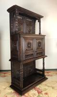 Antique French Breton Small Carved Buffet