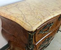 Stunning French Bombe Commode Chest of Drawers Marble Ormolu Louis XV Style (7 of 15)