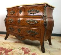 Stunning French Bombe Commode Chest of Drawers Marble Ormolu Louis XV Style (2 of 15)