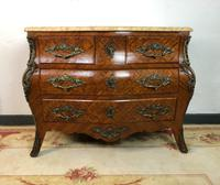 Stunning French Bombe Commode Chest of Drawers Marble Ormolu Louis XV Style (5 of 15)