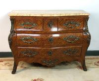 Stunning French Bombe Commode Chest of Drawers Marble Ormolu Louis XV Style (6 of 15)
