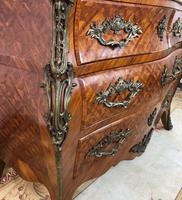Stunning French Bombe Commode Chest of Drawers Marble Ormolu Louis XV Style (9 of 15)