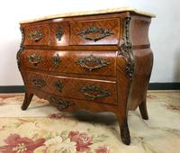 Stunning French Bombe Commode Chest of Drawers Marble Ormolu Louis XV Style (4 of 15)