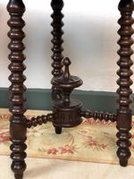 Antique Pair of Gypsy Bobbin End Tables with Carved Tops 19th Century (5 of 12)