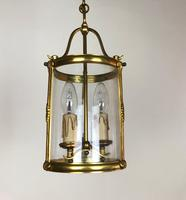 French Gilt Bronze Twin Light Hall Lantern (4 of 7)