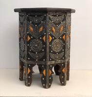 Vintage Moorish Inlaid Side Table (3 of 11)