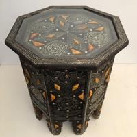 Vintage Moorish Inlaid Side Table (4 of 11)