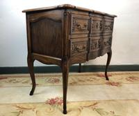 French Serpentine Petite Commode Louis Style Chest of Drawers (4 of 15)