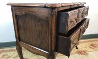 French Serpentine Petite Commode Louis Style Chest of Drawers (6 of 15)