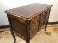 French Serpentine Petite Commode Louis Style Chest of Drawers (5 of 15)
