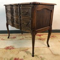 French Serpentine Petite Commode Louis Style Chest of Drawers (2 of 15)