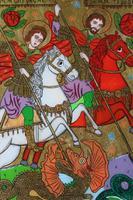 Reverse Painted Icon - Saint George & Theodor