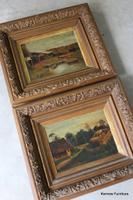 Pair of African Oil Paintings