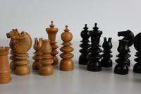 Antique Box Wood & Ebony Chess Set