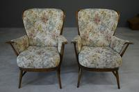 Pair of Vintage Retro Ercol Armchairs Chairs (4 of 12)