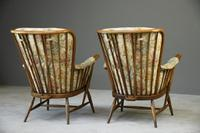 Pair of Vintage Retro Ercol Armchairs Chairs (10 of 12)