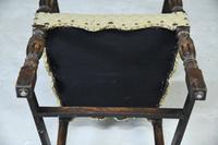 Oak Open Arm Carolean Style Armchair c.1930 (12 of 12)
