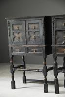 Pair of Jacobean Style Oak Cabinets (2 of 13)