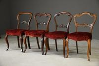 4 Victorian Mahogany & Rosewood Dining Chairs (11 of 12)