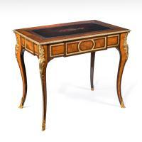 Fine Gilt Ormolu French Kingwood Writing Table c.1870