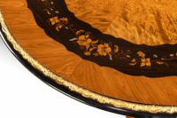 Exceptional 19th Century Marquetry Centre Table attributed to Edward Holmes Baldock (16 of 16)
