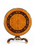 Exceptional 19th Century Marquetry Centre Table attributed to Edward Holmes Baldock (11 of 16)
