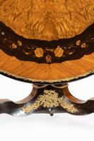 Exceptional 19th Century Marquetry Centre Table attributed to Edward Holmes Baldock (8 of 16)