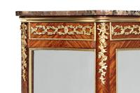 Exceptional Kingwood 19th Century Parquetry Concave Shaped Vitrine Display Cabinet (2 of 13)