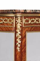 Exceptional Kingwood 19th Century Parquetry Concave Shaped Vitrine Display Cabinet (7 of 13)