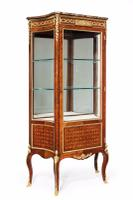 Exceptional Kingwood 19th Century Parquetry Concave Shaped Vitrine Display Cabinet (12 of 13)