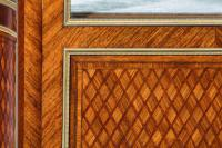Exceptional Kingwood 19th Century Parquetry Concave Shaped Vitrine Display Cabinet (10 of 13)