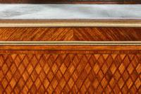 Exceptional Kingwood 19th Century Parquetry Concave Shaped Vitrine Display Cabinet (9 of 13)